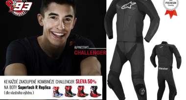 Ke kombinéze Challenger - repliky bot jezdců z MotoGP za POLOVINU!
