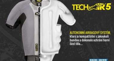 Airbagová vesta Alpinestars Tech-Air 5 skladem!