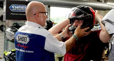 Akce Shoei PFS na prodejně Bikers Crown OŘECH