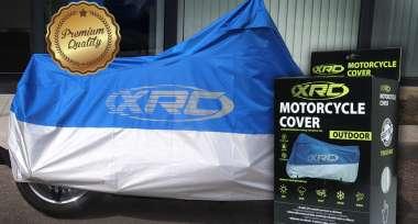 Venkovní a vnitřní ochranné plachty na motorku XRC