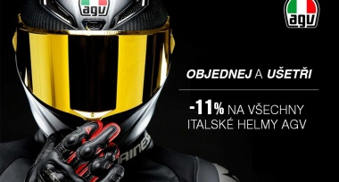 Akční slevy na všechny helmy AGV
