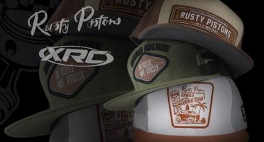 Novinka: Kšiltovky Rusty Pistons a XRC skladem!